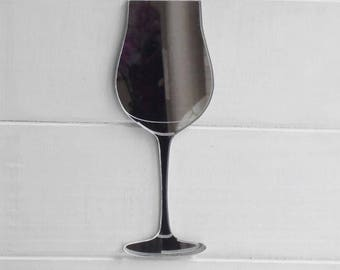 Wine Glass Acrylic Mirror