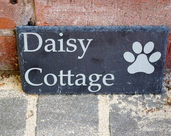 Slate house sign, slate shed, stable sign, personalised slate sign, house sign, bespoke house sign, dads shed sign, engarved house sign,