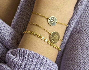 Constellation bracelet, Aquarius Zodiac Jewelry, Astrology Zodiac bracelet, virgo, scorpio, sagittarius, capricorn bracelet mothers day gift
