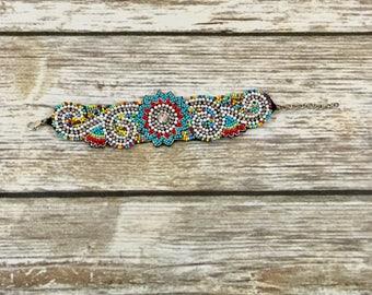 Vintage Beaded Sequins Bracelet