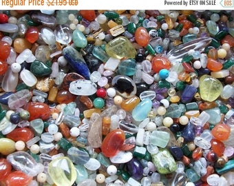 ON SALE 1/2 lb Pound Mixed India Gemstone Beads Assorted Carnelian Garnet More 8 oz