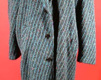 Hobo Tweed Long Coat Men or Women's