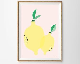Lemon Children's Print