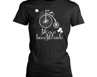 Bicycle womens fit T-Shirt. Funny Bicycle shirt.