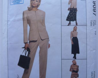 McCall's 9097 Sewing Pattern for Women. Misses' lined jacket, pants and skirt. Size 10. 1997. Vintage Supply.