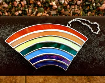 Stained Glass Rainbow Suncatcher