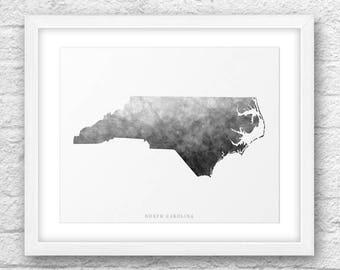 North Carolina Map, North Carolina Print, North Carolina Art, North Carolina Map Art, North Carolina Printable, Instant Download