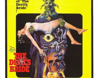 Summer Sale The DEVILS BRIDE Movie Poster Hammer Horror RARE