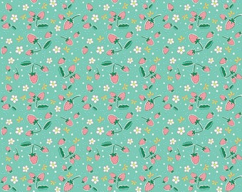 "1/2 yard Penny Rose Fabrics ""Bunnies & Blossoms"" By Lauren Nash 