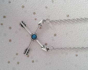 arrow necklace arrowhead charm necklace turquoise gifts
