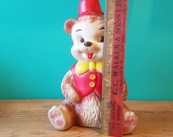 Vintage Rubber Edward Mobley Co. Squeaky Bear