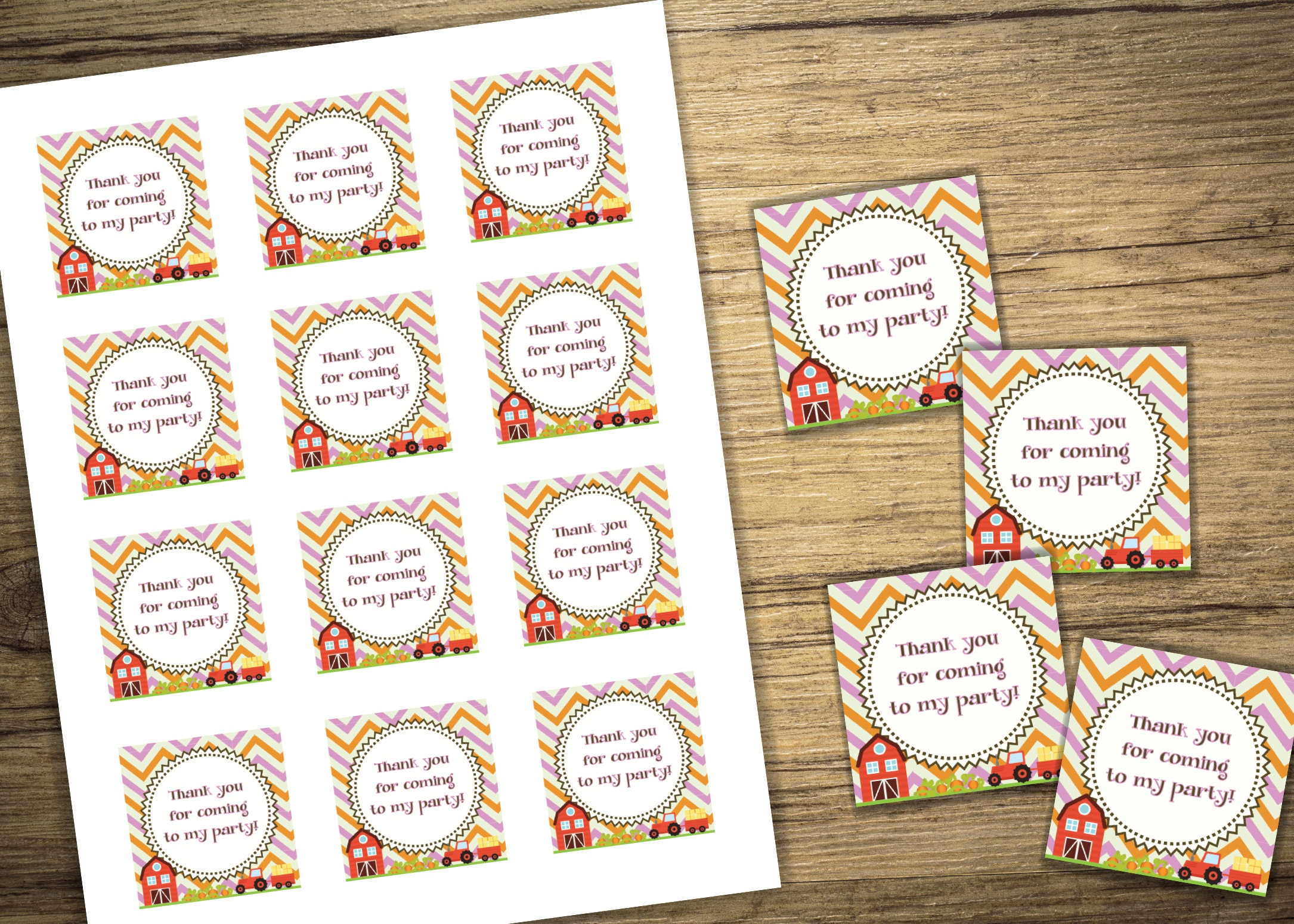 Pumpkin Patch Matching Favor Tags - Birthday Party Invitation, Boy ...