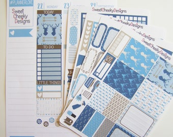 Winter Cabin Weekly Kit!  Available for Erin Condren Life Planner or MAMBI/Happy Planner