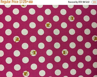 SALE Polka Dots and Pups Cotton Linen by Kokkah Fabric Japanese Import