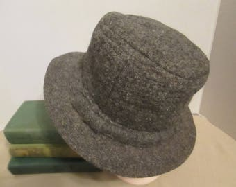 8052a17d7d768 Vintage 100% Pure New Virgin Wool Men s Fedora Hat by Millars Cufden  Connemara. Made