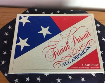 All American Trivial Pursuit Cards Set, Parker Brothers