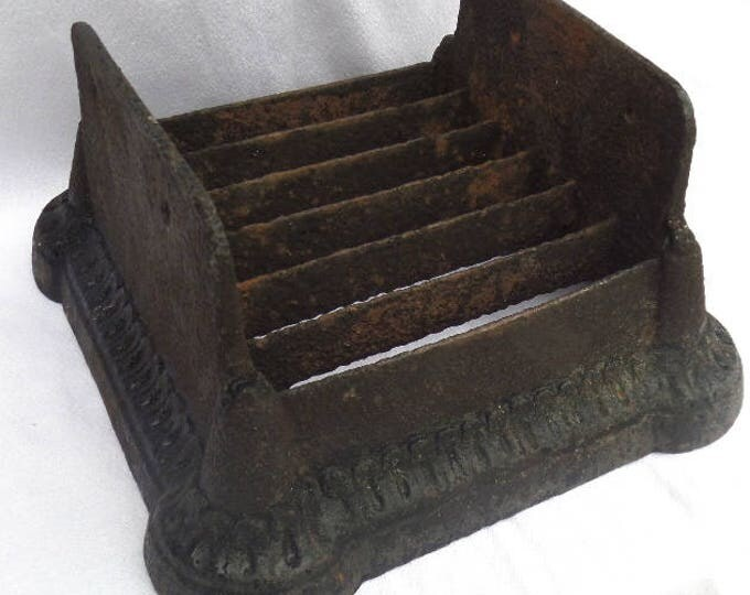 "Antique Cast Iron Boot Scraper, English Circa 1890, Heavy Quality Piece Weighs 10kg, Aged Patina, Perfect for Muddy Walks! 12"" x 12"" x 7"""