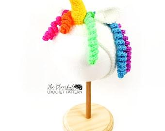 Unicorn Crochet Pattern - Ear Warmer Pattern - Unicorn Crochet headband - Horse Crochet Headband - Pony Crochet Pattern - Head Band