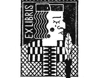 Fatal Quill Ex Libris Rubber Stamp