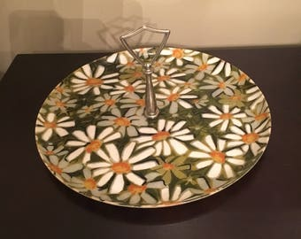 Vintage 1960s - 1970s Daisy Serving Tray Platter