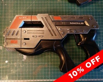 M77 Carnifex handgun - Mass Effect Inspired Prop Cosplay Pistol Weapon