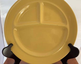 Vintage Bauer Pottery Grill Plate - Yellow