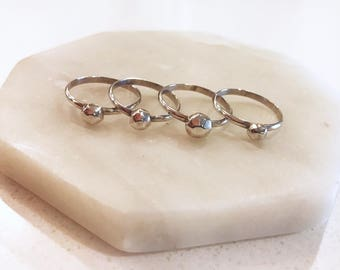 Sterling Silver Rock Ring