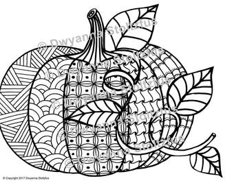 large pumpkin coloring page - etsy your place to buy and sell all things handmade