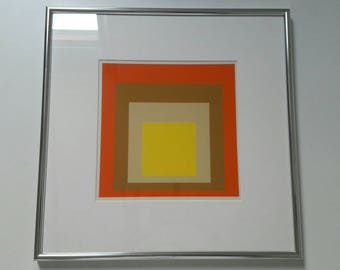 Silkscreen Homage to the Square by Josef Alberts