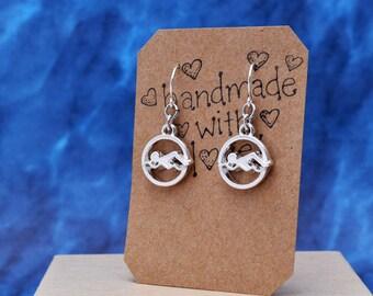 Swimming Earrings, Swimmer Earrings, Swimming Jewelry, Swimmer Jewelry, Swimming Gift, Sports Earrings, Olympics, Water Polo Gift
