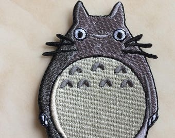 """My Neighbor Totoro Patch 3"""" Embroidered Iron on Badge Costume Applique Motif Bag Hat T-Shirt Souvenir Collectible Retro Rare Cartoon Kids"""