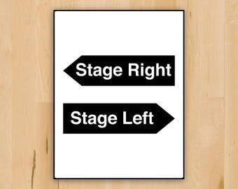 Theatre Print | Stage Manager | Theatre Tech | Stage Left Stage Right | Broadway Gift | Stage Crew | Broadway Printable | Printable Decor