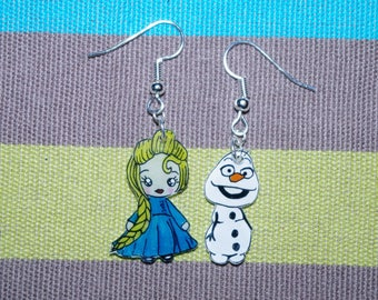 The snow Queen earrings