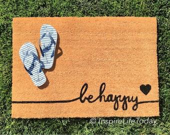 SummerSale! Going fast! Hurry, don't miss out! Be Happy Coir Doormat Coir Funny Doormat / Welcome Mat / Doormat