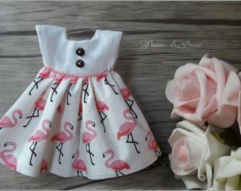 Blythe dress Flamingo... shabby garden. Doll Dress.