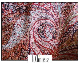 ANTIQUE 19 th century Cashmere shawl / Antique Kashmir Shawl 19th Century / Vintage cashmere / Paisley shawl.
