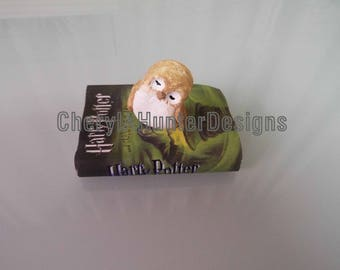 Mini clay Owls on a mini book