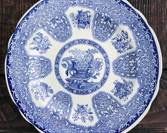 Vintage Blue and White Transferware Plate Spode Collection