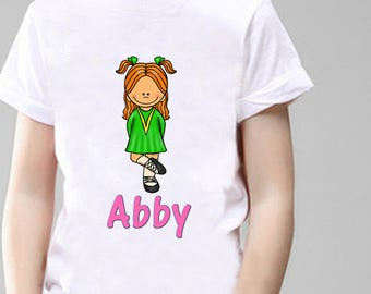 Irish Dancing Personalised T-Shirt, Printed With Any Name.