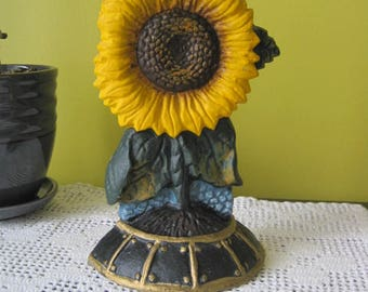 Vintage Sunflower doorstop / Vintage Doorstop Sunflower