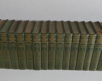 Funk & Wagnalls New Standard Encyclopedia 1931 - 25 Volumes, Small GREEN SET