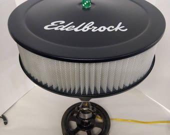 Custom Piston Lamp w/ Harmonic Balancer & Edelbrock Air Filter