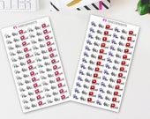 Film, Edit, Upload Stickers (78 Matte Planner Stickers)