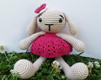 READY TO SHIP-- Beatrix the Bunny Amigurumi Toy