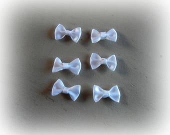 6 color 2 * 1 cm white satin bows