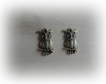 2 charm OWL / OWL bronze 30 * 18 mm