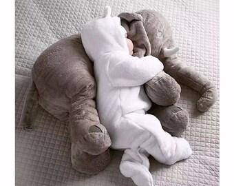 Stuffed Elephant, Elephant Pillow, Baby Gift, Baby Shower, Baby Boy, Baby girl, First Birthday, Personalized Stuffed Elephant, Elephant gift