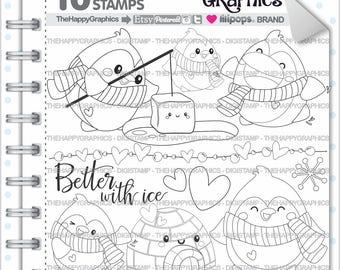 Penguin Stamp, 80%OFF, COMMERCIAL USE, Digi Stamp, Penguin Digistamp, Kawaii Stamps, Penguin Party, Animal Stamp, Penguin Digistamp, Images