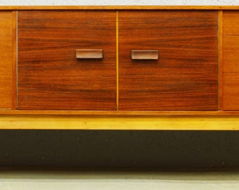 Mid-Century Rosewood and Teak 1960's Sideboard