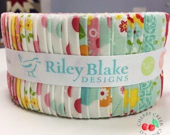 SALE Jelly Roll, Garden Girl Fabric, Riley Blake Designs, Zoe Pearn Fabric